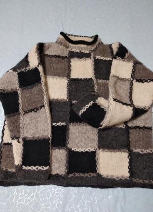 Шикарный шерстяной свитер, 100% шерсть