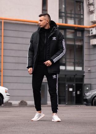 Зимняя куртка adidas streetz черняво