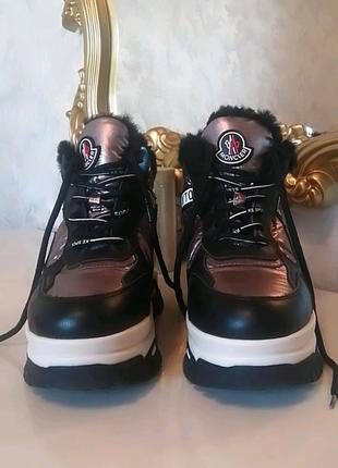 MONCLER. Женские кросовки. Ботинки. Зима.