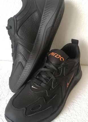 Nike 270! кожаные черные кроссовки limited sport  от найк, кро...