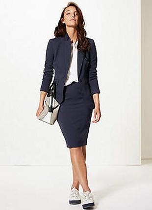 Серая классическая базовая шерстяная юбка карандаш миди