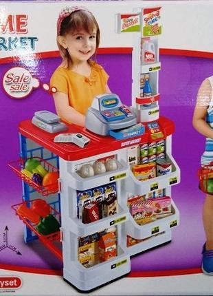 Детский игровой набор Супермаркет 668 02 касса с продуктами и тел