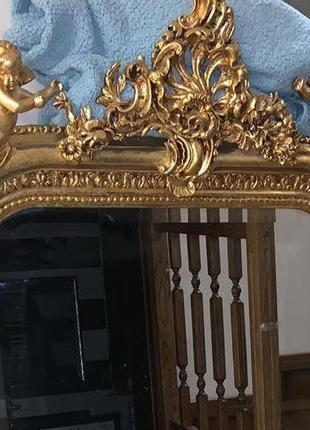 Большое Зеркало барокко в золотой раме настенное