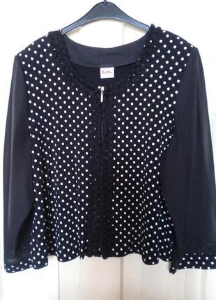 Блузка женская с полупрозрачными рукавами