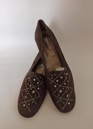 Балетки ,туфли на каблуке женские коричневые.брендовая обувь s...