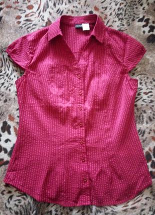 Блуза блузка рубашка приталенная стрейч 48р М-Л BodyFlirt Германи