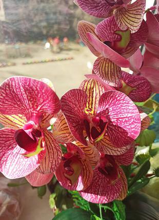 Орхидея искусственная латексная