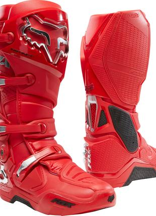 Мотоботы FOX Instinct Flame Red NEW 2020. Кроссовые мото боты