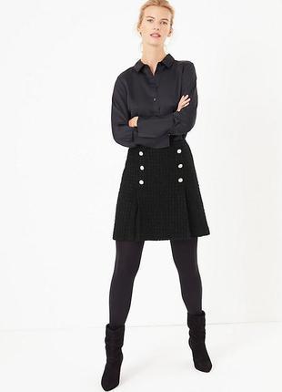 Новая теплая юбка 13%шерсти спереди 2 разреза 22/56-58 размера