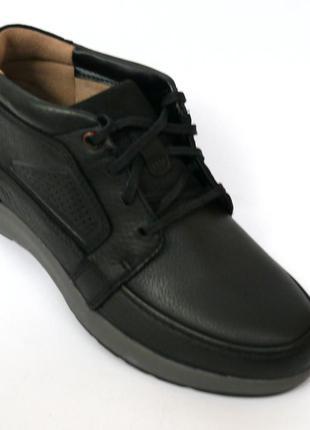 Clarks un trail limit chukka кожаные черные ботинки оригинал 4...