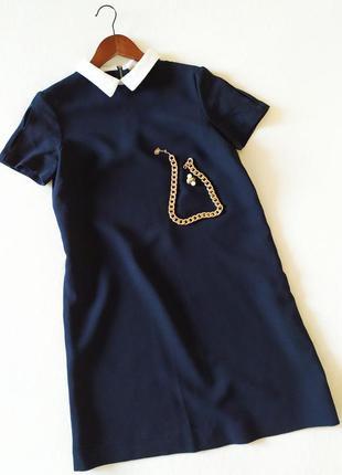 Трендовое платье футляр с воротничком zara