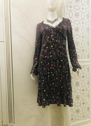 Трикотажное платье с длинным рукавом италия