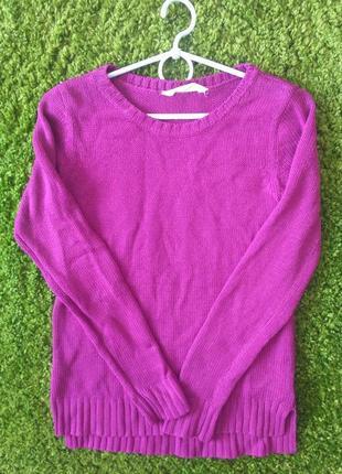 Вязаный свитер цвета фуксия