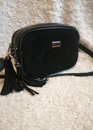 Женская сумка ,эко кожа натуральный замш!