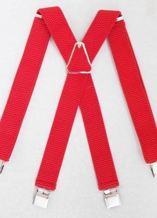 Широкие мужские красные подтяжки (польша)