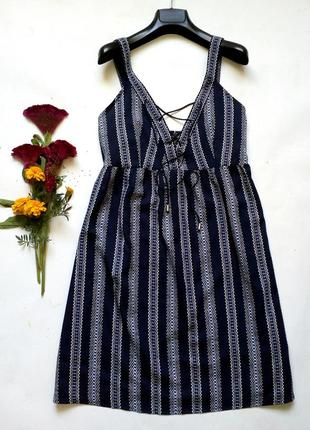 Лёгкое платье сарафан со шнуровкой спереди на море пляж 14