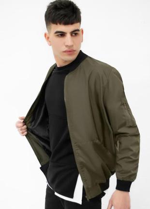 Бомбер мужской базовый хаки / куртка чоловіча базова хакі курт...
