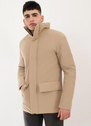 Куртка мужская демисезонная базовая бежевая | курточка чоловіч...