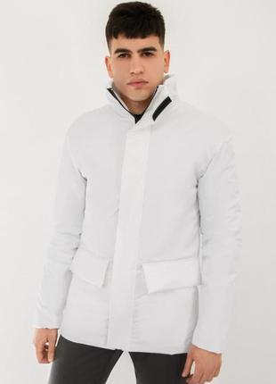 Куртка мужская демисезонная базовая белая | курточка чоловіча ...