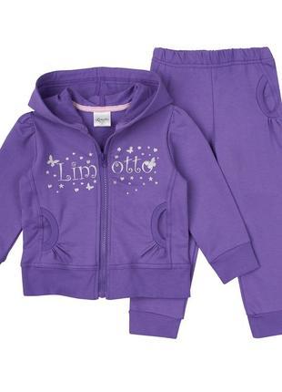 Детский спортивный костюм для девочки, фиолетовый, размер 98см