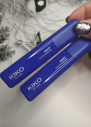 Цветная тушь синяя, голубая kiko milano
