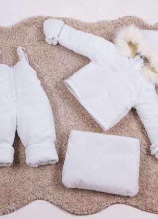 Детский зимний комбинезон тройка