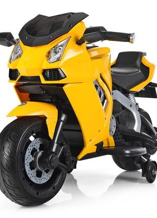 Детский мотоцикл M 3637EL-6, кожаное сиденье