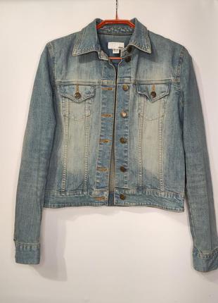 H&m стрейчевая джинсовка, джинсовая куртка