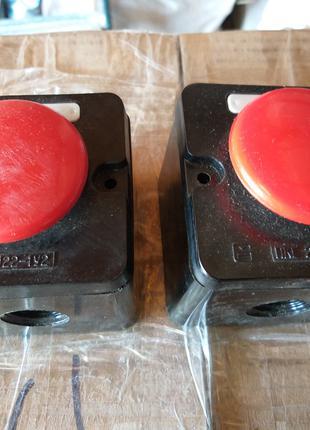 Кнопка грибковая,  в корпусе. ПКЕ 122. с хранения.