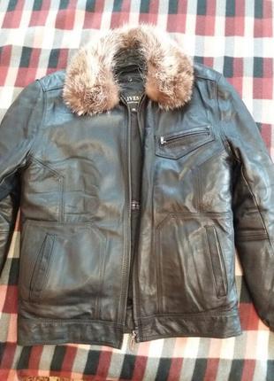 Куртка мужская зимняя кожаная
