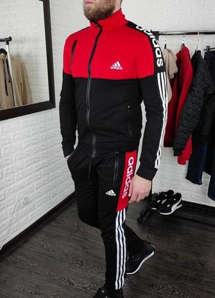 Спортивный костюм мужской adidas красный / спортивний костюм ч...