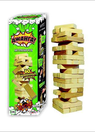 Игра настольная strateg джанга, 60 брусков