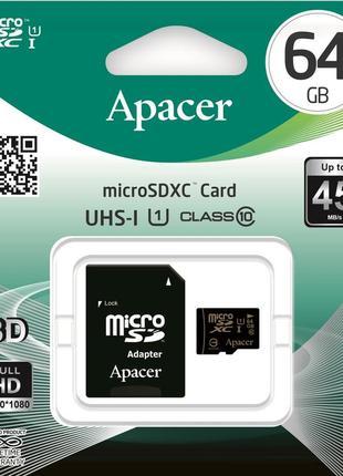 Карта памяти Apacer 64 Gb Class 10