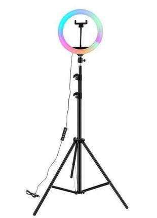 Светодиодная кольцевая лампа селфи кольцо для фото с держателем д