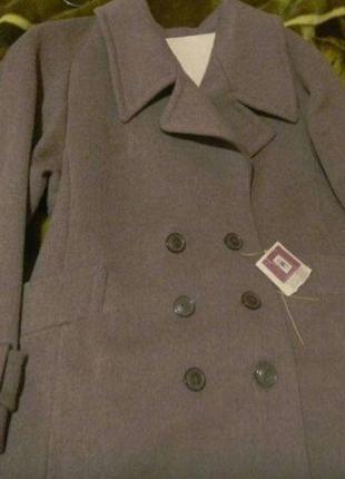 Пальто драповое женское батал