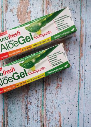 Зубная паста с алое вера farmasi eurofresh aloe gel toothpaste