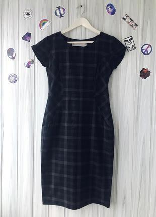 Платье футляр платье миди в клетку от zara