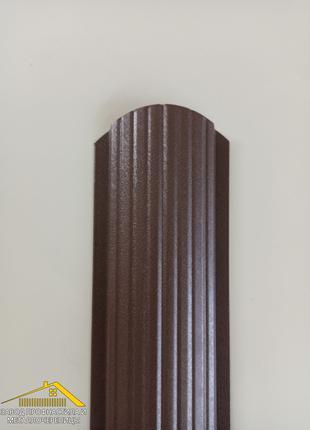 Штакет металлический коричневого цвета Ral 8017, купить штакеник