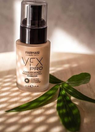 Farmasi vfx pro camera ready foundation тональный крем с эффектом