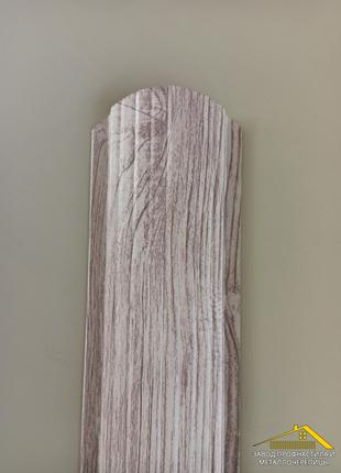 Забор из штакета под дерево, купить штакетник под белое дерево 3Д