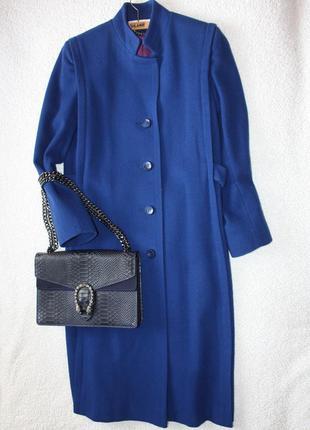 Шикарное шерстяное пальто прямой пошив . пальто длина миди