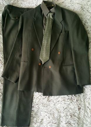 """Чоловічий костюм """"NTON"""" (вовна) комплект (сорочка+краватка)"""