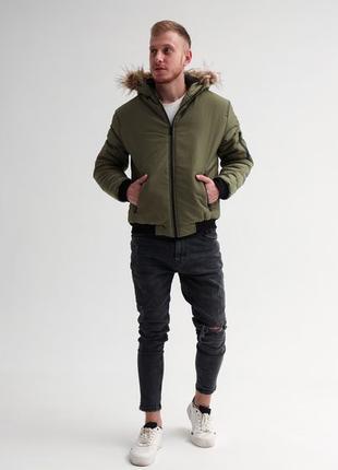 Зимняя мужская куртка парка до -25