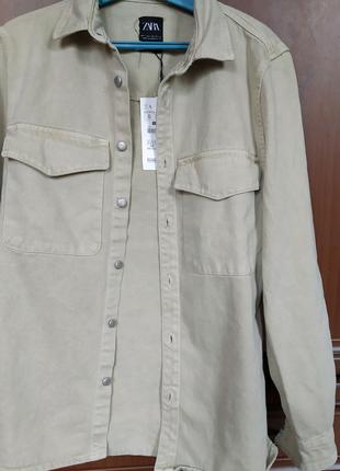 Новый куртка рубашка мужская ZARA