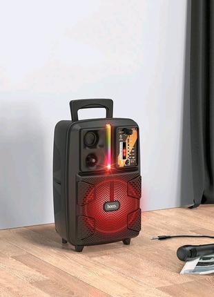 Портативная Bluetooth колонка HOCO BS37 с проводным микрофоном
