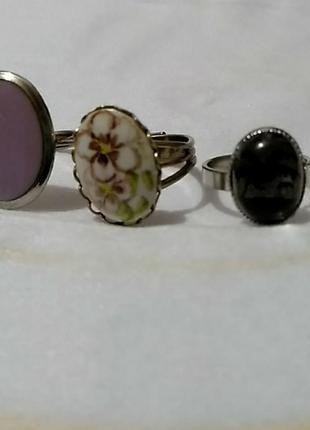 Три кольца в одном стиле. по отдельности не продается