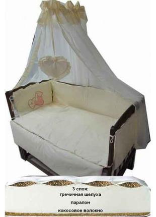Акция! Наборы в кроватку: постельное с матрасом кокос! Новое