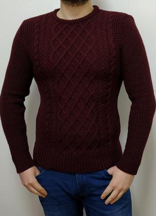 Мужской, мягкий, классический, теплый свитер
