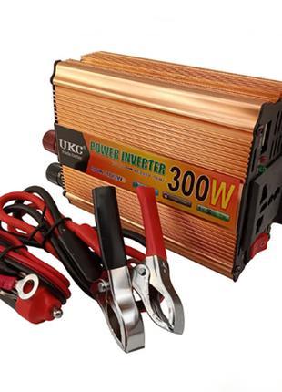 Инвертор преобразователь UKC с 24 на 220 вольт 300W
