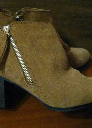Женские кожаные деми ботинки полуботинки на широкую ногу р.42 ...